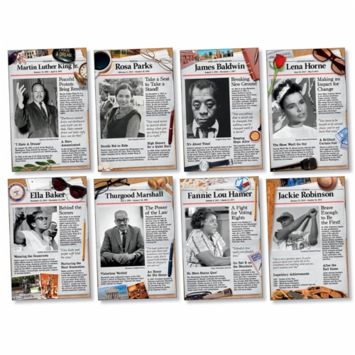North Star Teacher Resource NST3078BN Civil Rights Pioneers Bulletin Board Set - Set of 2 Perspective: front