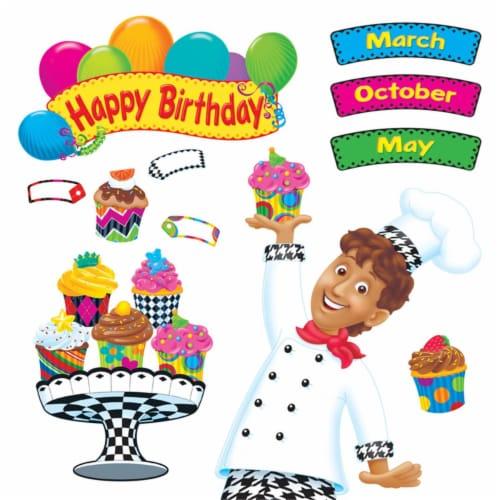 Trend Enterprises T-8350BN Happy Birthday Bake Shop Bulletin Board Set - Set of 2 Perspective: front