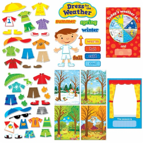 Creative Teaching Press CTP1640BN Dress for the Weather Bulletin Board Set - Set of 2 Perspective: front