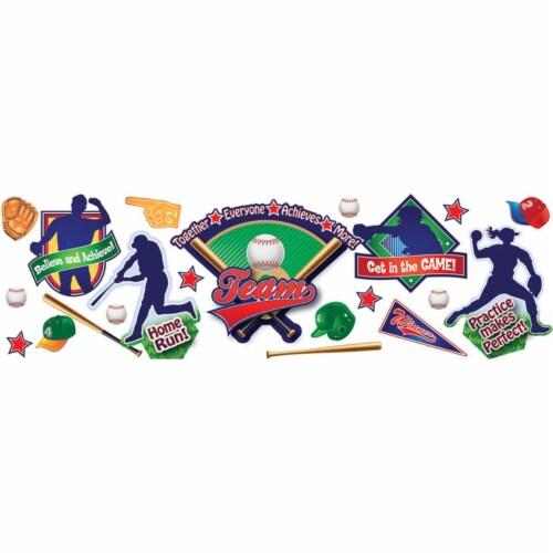 Eureka EU-847676BN Baseball Bulletin Board Set - Set of 2 Perspective: front
