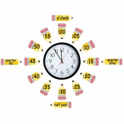 Eureka EU-847423BN Telling Time Bulletin Board Set - Set of 2 Perspective: front