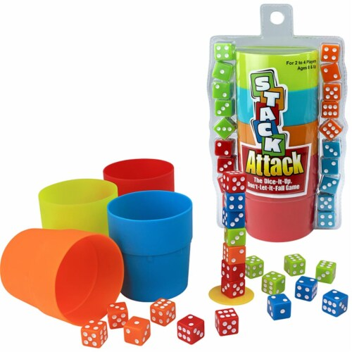 Playmonster PAT6890BN 2 Each Stack Attack the Dice It Up Dont Let It Fall Game Perspective: front