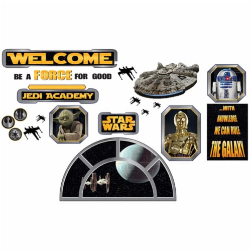 Eureka EU-847543BN Star Wars Welcome to the Galaxy Bulletin Board Set - Set of 2 Perspective: front