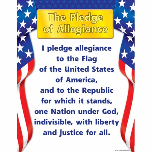 Teacher Created Resources TCR7631BN 6 Each Pledge of Allegiance Learning Chart - 17 x 22 in. Perspective: front