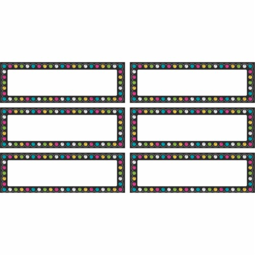 Teacher Created Resources TCR77299BN Chalkboard Brights Labels Magnetic Accents - Pack of 3 Perspective: front