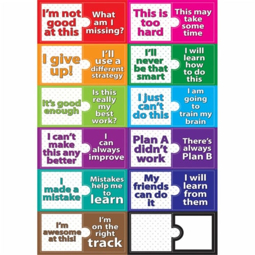 Ashley Productions ASH77010BN Growth Mindset Magnetic Mini Bulletin Board Set - Set of 3 Perspective: front