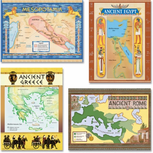 Teacher Created Resources TCR4422BN Ancient Civilization Bulletin Board Set - Set of 2 Perspective: front