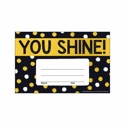 Trend Enterprises T-81085BN 5.5 x 8.5 in. I Love Metal You Shine Dots Recognition Awards, Pac Perspective: front