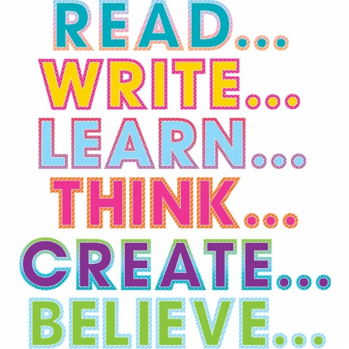 Teacher Created Resources TCR8781BN Colorful Vibes Motivation Bulletin Board Display - Set of Perspective: front