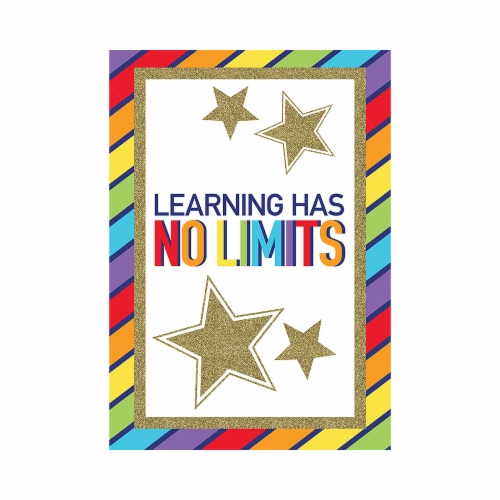 Carson Dellosa CD-106001BN Sparkle & Shine Learning Has No Limits Chart - Pack of 6 Perspective: front