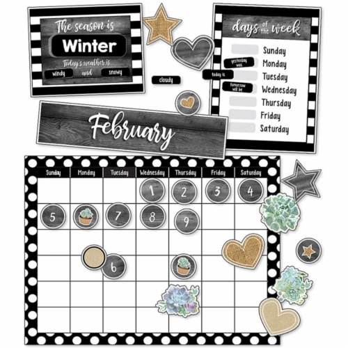 Carson Dellosa CD-110409BN Simply Stylish Calendar Bulletin Board Set - Pack of 2 Perspective: front