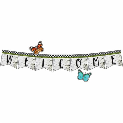 Carson Dellosa CD-110425BN Woodland Whimsy Welcome Bulletin Board Set - Set of 2 Perspective: front