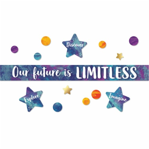 Carson Dellosa CD-110435BN Galaxy Our Future is Limitless Bulletin Board Set - Pack of 2 Perspective: front