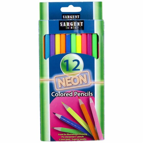 Sargent Art SAR227241BN Neon Colored Pencils, Pack of 3 Perspective: front