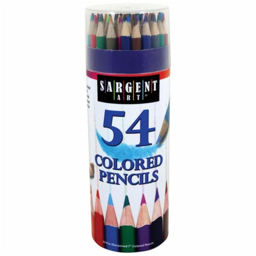 Sargent Art SAR227286BN Colored Pencils 54 Colors Tub, Pack of 3 Perspective: front