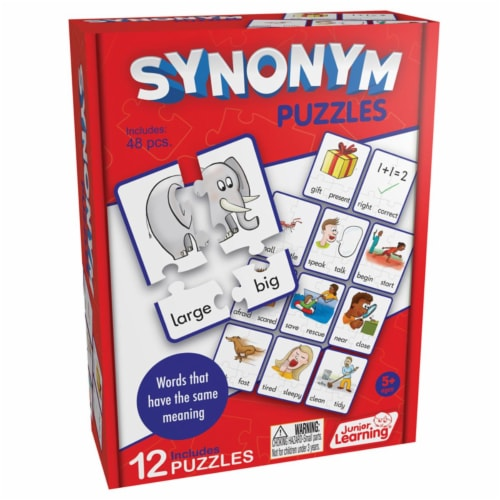 Junior Learning JRL241BN 3 Each Synonym Puzzles Perspective: front