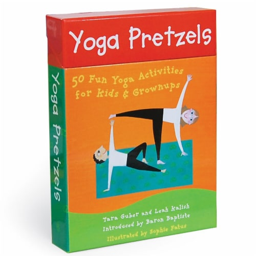 Barefoot Books 2 Each Yoga Pretzels Activity Cards Perspective: front