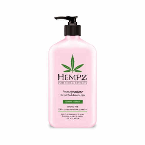 Hempz Pomegranate Herbal Body Moisturizer Perspective: front