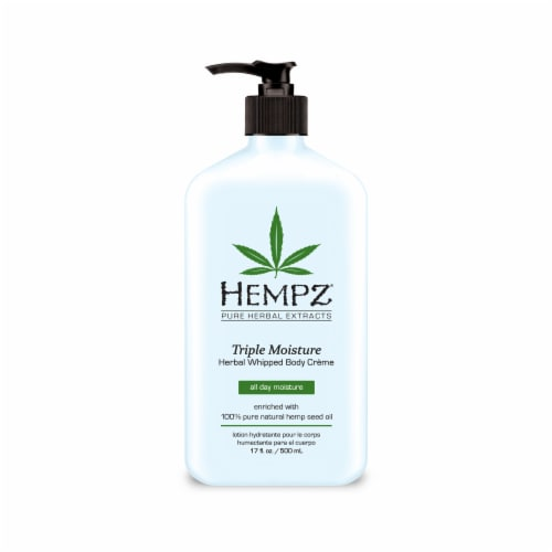 Hempz Triple Moisture Herbal Whipped Body Creme Perspective: front