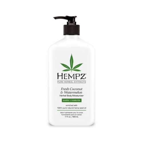 Hempz Fresh Coconut & Watermelon Herbal Body Moisturizer Perspective: front