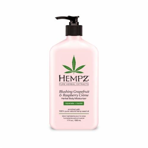 Hempz Blushing Grapefruit & Raspberry Creme Herbal Body Moisturizer Perspective: front