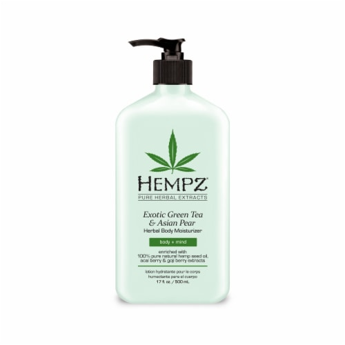 Hempz Exotic Green Tea & Asia Pear Herbal Body Moisturizer Perspective: front