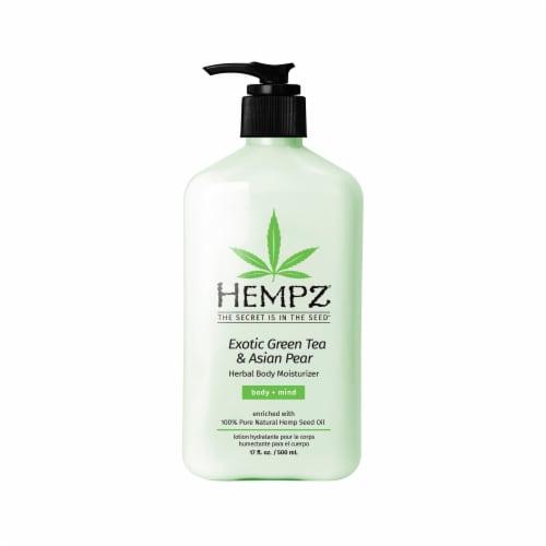 Hempz Exotic Green Tea & Asian Pear Herbal Body Moisturizer Perspective: front