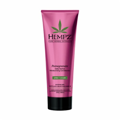 Hempz Pure Herbal Extracts Pomegranate Daily Herbal Moisturizing Conditioner Perspective: front