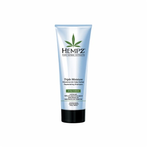 Hempz Pure Herbal Extracts Triple-Moisture Daily Herbal Replenishing Shampoo Perspective: front