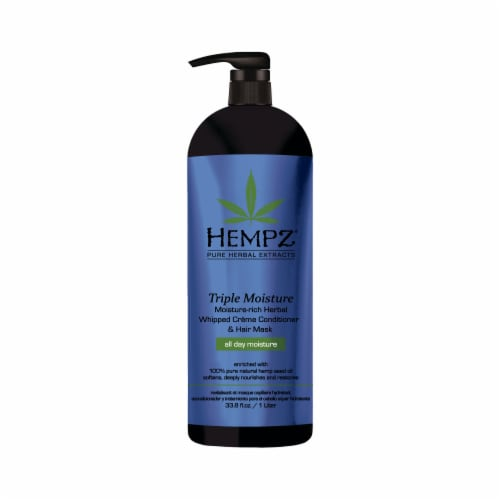Hempz Triple Moisture Herbal Volumizing Shampoo Perspective: front