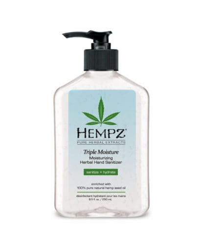 Hempz Triple Moisture Herbal Hand Sanitizer Perspective: front