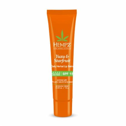 Hempz Yuzu & Starfruit Daily Herbal Lip Balm SPF 15 Perspective: front