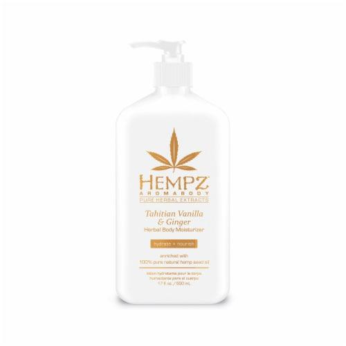 Hempz Tahitian Vanilla & Ginger Herbal Body Moisturizer Perspective: front