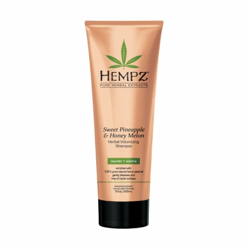 Hempz Pure Herbal Extracts Sweet Pineapple & Honey Melon Herbal Volumizing Shampoo Perspective: front