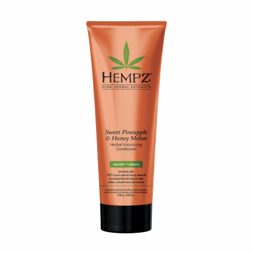Hempz Pure Herbal Extracts Sweet Pineapple & Honey Melon Herbal Volumizing Conditioner Perspective: front