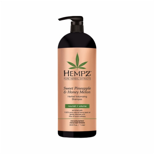 Hempz Sweet Pineapple & Honey Melon Herbal Volumizing Shampoo Perspective: front