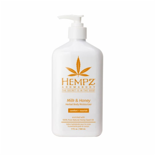 Hempz Milk & Honey Herbal Body Moisturizer Perspective: front