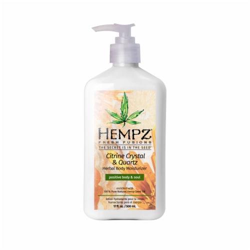 Hempz Fresh Fusions Citrine Crystal & Quartz Herbal Body Moisturizer Perspective: front
