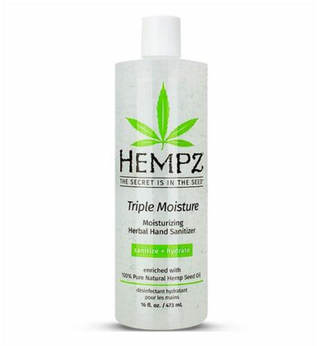 Hempz Triple Moisture Herbal Hand Sanitizer Perspective: front