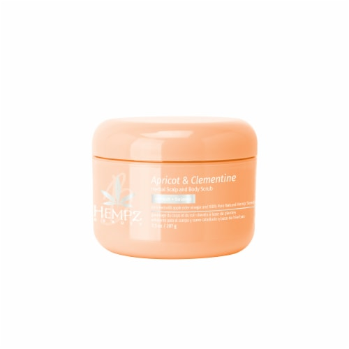 Hempz Apricot & Clementine Herbal Scalp & Body Scrub Perspective: front
