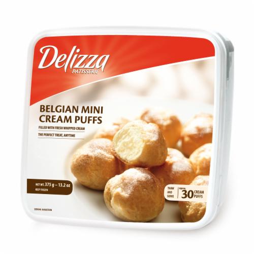 Delizza Belgium Mini Cream Puffs 30 Count Perspective: front