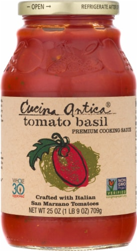 Cucina Antica Tomato Basil Sauce Perspective: front