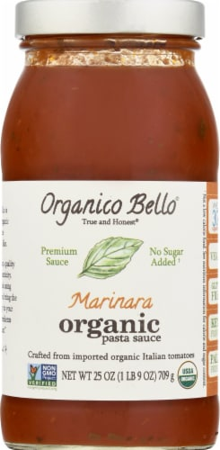 Organico Bello Organic Marinara Pasta Sauce Perspective: front