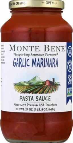 Monte Bene Garlic Marinara Pasta Sauce Perspective: front