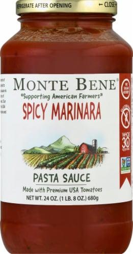 Monte Bene Spicy Marinara Pasta Sauce Perspective: front