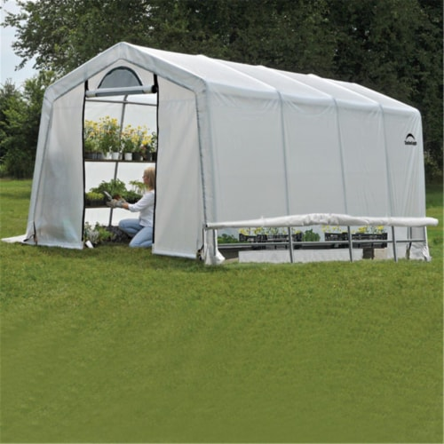 ShelterLogic 70658 10x20x8 ft. - 3x6,1x2,4 m - 5 - Rib Peak Style Grow It Greenhouse-in-a-Box Perspective: front