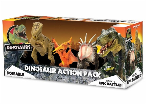 Kid Galaxy Poseable Dinosaurs - 3 Pack Perspective: front
