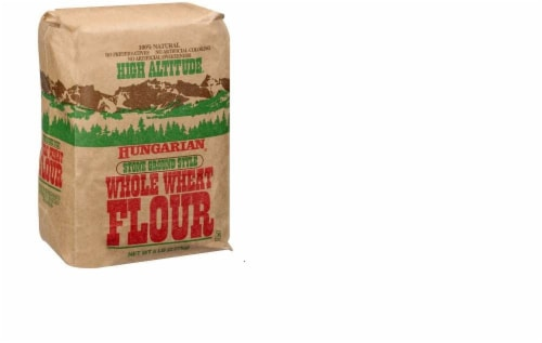 High Altitude Hungarian Stone Ground Style Whole Wheat Flour Perspective: front