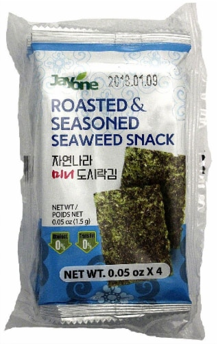 JayOne Roasted And Seasoned Seaweed Snack Perspective: front