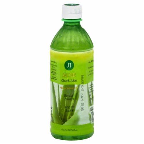 J1 Aloe Pulp Juice Perspective: front